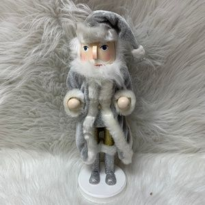Bloomingdale's Advent Silver Santa Nutcracker